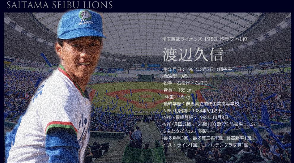 渡辺久信投手の記憶と記録